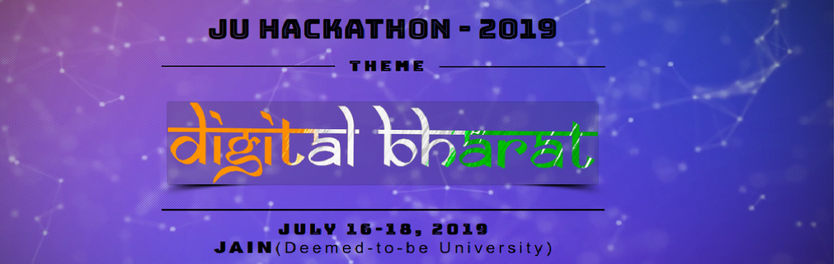 Book Online Tickets for JU HACKATHON, Bengaluru.     JU HACKATHON is organized by the IEEE student chapter at JAIN (Deemed-to-be University), based on the theme \'Digital Bharat\'.         About this Event     JU HACKATHON is an initiative that aims to give a platform to young e