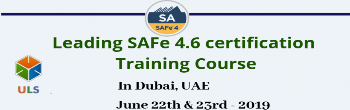 Book Online Tickets for Leading SAFe 4.6 Certification Training , Dubai. Ulearn System's Offer SAFe Agilist 4.6 Certification Training Course Dubai, UAE, Best Leading SAFe Agile Training Institute in Dubai, UAE Enroll for Classroom SAFe Agilist 4.6 Certification Training in Dubai, UAE from Ulearn Systems. we deliver