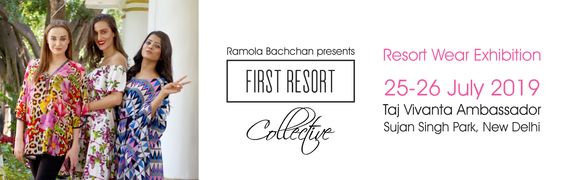Book Online Tickets for First Resort Collective July 2019 - Reso, New Delhi. The First Resort Collective is a resort wear exhibition that features an exclusive collection of holiday essentials designed to make you fashion-ready for the vacation season. Products for sale include - kaftans, tunics, maxis, jumpsuits, tops,