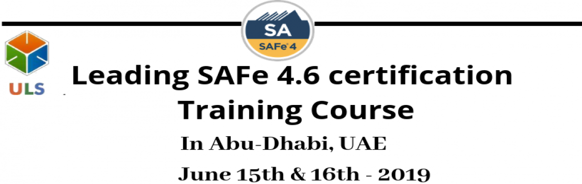 Book Online Tickets for Leading SAFe 4.6 Certification Training , Abu Dhabi. Ulearn System's Offer SAFe Agilist 4.6 Certification Training Course Abu-Dhabi, UAE, Best Leading SAFe Agile Training Institute in Abu-Dhabi, UAE Enroll for Classroom SAFe Agilist 4.6 Certification Training in Abu-Dhabi, UAE from Ulearn Systems