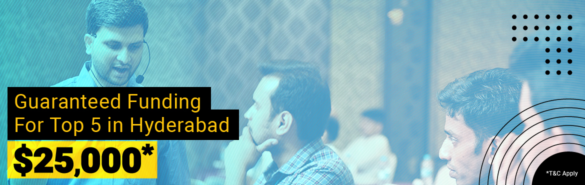 Book Online Tickets for Startup, Business and Funding, Hyderabad. # GOLDEN OPPORTUNITY TO GET ON THE SPOT FUNDING UP TO $25,000 # TOTAL INVESTMENT OPPORTUNITY UP TO $1 MILLION # GUARANTEED FUNDING FOR TOP 5 This seminar is for startups and entrepreneurs who are looking to learn from each other and grow together as