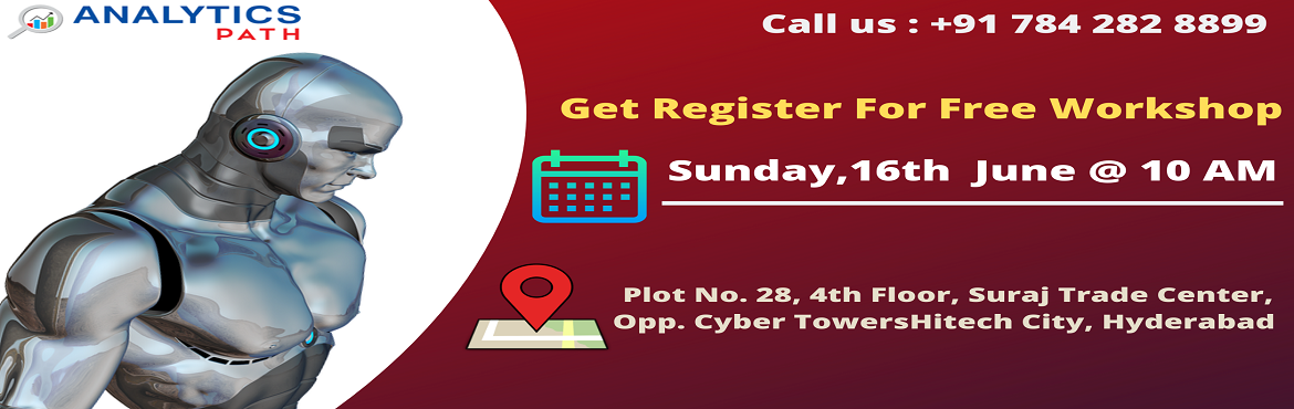 Book Online Tickets for Attend Free Workshop On big Data Analyti, Hyderabad. Attend Free Workshop On big Data Analytics-Career In Analytics By Analytics Path On 16th June, 10 AM, Hyderabad About The Event: Analytics Path which is one among the best success rated institute for job oriented Big Data Analytics training has now s