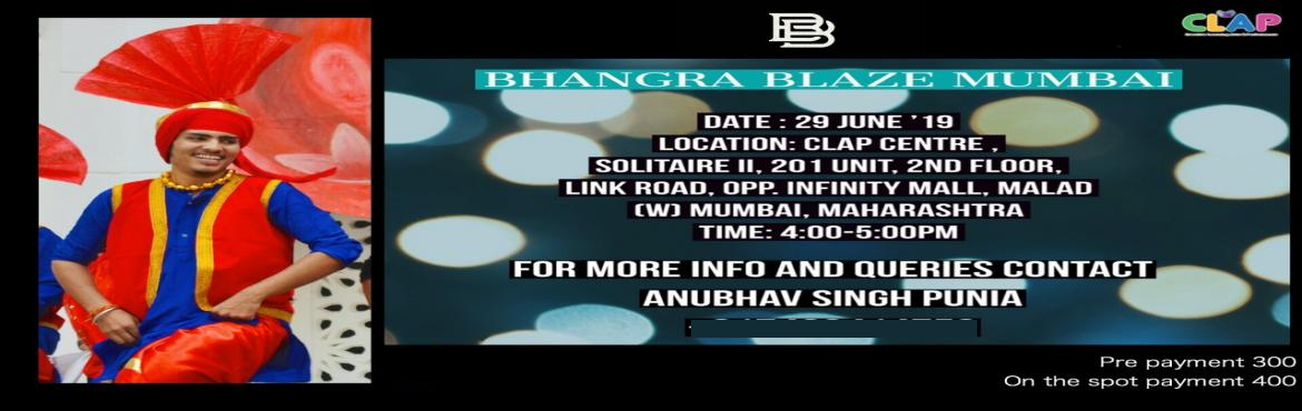 Book Online Tickets for Bhangra Workshop , Mumbai.  Learn the powerful and energetic dance form with some Cardio to it.Dance into fitness at this Bhangra Workshop conducted by Anubhav Singh Punia of Bhangra Blaze Mumbai.Hurry and make an energetic start to your weekend Date- 29th JuneTime- 4pm-5