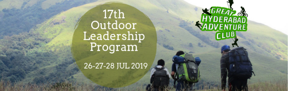 Book Online Tickets for 17th Outdoor Leadership Certification Pr, Hyderabad. 17th Outdoor Leadership Certification Program - 26-27-28 July 2019 GHAC is calling application from all outdoor enthusiasts who would like to master outdoor leadership skills required to conduct and lead adventure and outdoor activities. Planning, le