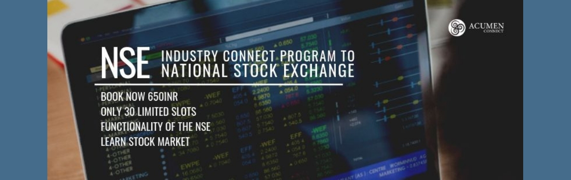 Book Online Tickets for Industry Visit to National Stock Exchang, Secunderab. There are a total 22 stock exchanges in India and National Stock Exchange has a total market capitalization of more than US$2.27 trillion, making it the world\'s 11th-largest stock exchange.It has been the endeavor of Acumen Connect to spread knowled