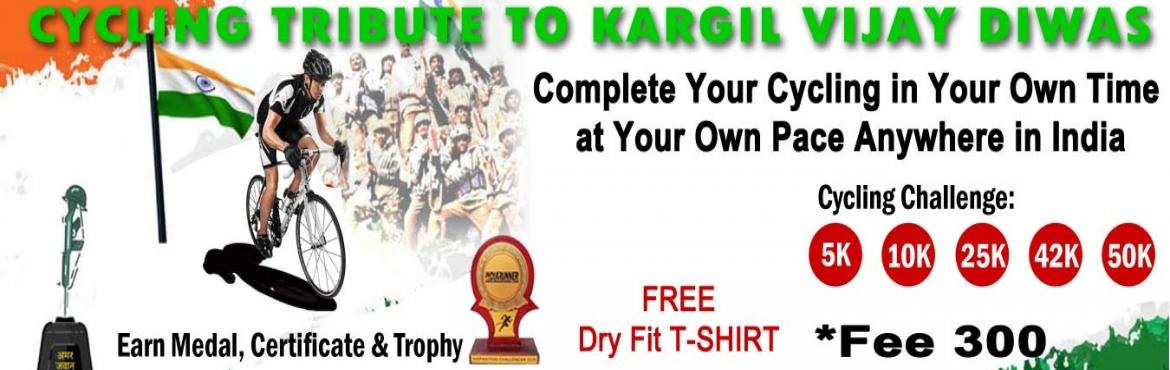 Book Online Tickets for Cycling for Kargil Vijay Diwas, Chennai.  Kargil Vijay Diwas - 2019 Its been 20 years and Kargil Vijay Diwas is celebrated on 26 July every year in honour of the Kargil War\'s Heroes.   A cycling for the mother land and for the soldiers.   You will get Kargil Vijay Diwas Meda