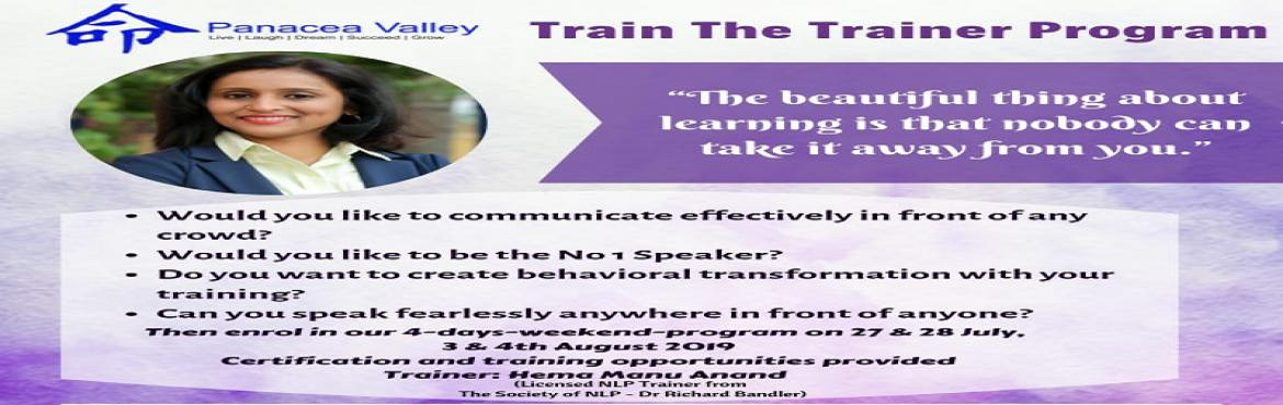 Book Online Tickets for Train The Trainer to become a Soft Skill, Chennai. It is suitable for anyone who would like to communicate effectively in front of any crowd or wish to become corporate/freelance Softskills trainer or enhance public speaking skills or personal empowerment. You will lose your fear of speaking in