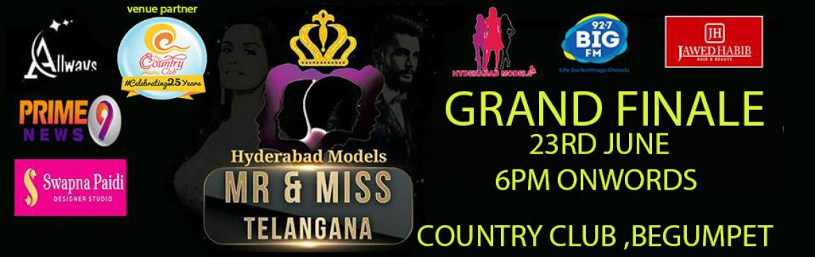 Book Online Tickets for MR AND MISS TELANGANA 2019 GRAND FINALE, Hyderabad. Hyderabad Models presents Mr and Miss Telangana 2019 grand finale going to heald at country club begumpet top 40 models going to walk on the ramp on the evening. show director Vamshi Palle Attractions DJ Tony Tollywood celebrities Food stalls, Tatto