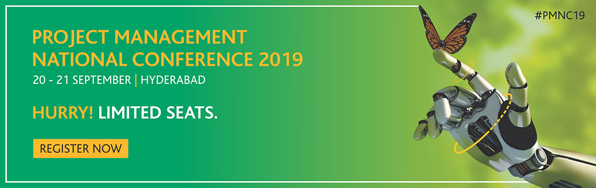 Book Online Tickets for Project Management National Conference 2, Hyderabad. The Project Management National Conference (PMNC) is PMI's flagship event in India. It is a celebration of the project management profession which brings together hundreds of practitioners, chapter leaders and business professionals from around