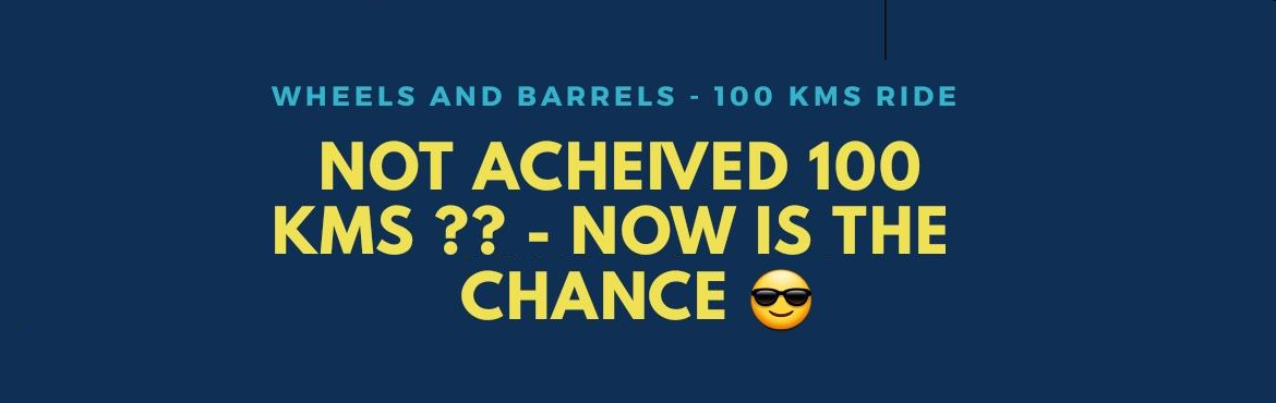 Book Online Tickets for WnB -100kms challenge , Thane. Wheels and Barrels 100 kms challenge Haveyou completed a century ride yet ?? Challenge yourself this monsoon !! Cut off time : 6hrs Route: Decathlon Thane    To: NCPA, Nariman point *M