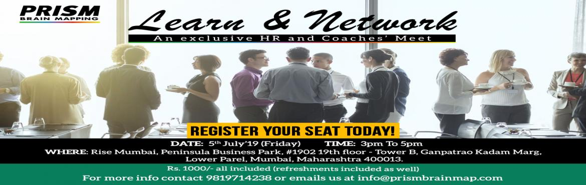 Book Online Tickets for PRISM Brain Map ELITE PROFESSIONALS NETW, Mumbai. WHY SHOULD YOU ATTEND?  Learn how toenhance your careeras an HR/Coach. Learn HR and future industry trendswhich will impact you and your organisation in the coming decade! Network with high quality professionalsacross various