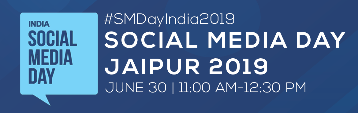 Book Online Tickets for Social Media Day 2019-Jaipur Meetup, Jaipur. The Jaipur Digital Club is a Community Driven Platform for startups, Businesses, ventures, individuals and Small Organisations to come and discuss the Digital World. The main aim of this group is to celebrate the relationship and togetherness built o