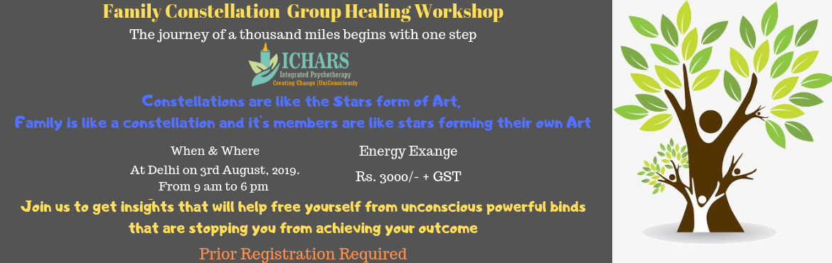 Book Online Tickets for Family Constellation Group Healing Works, New Delhi. Get a chance to become a part of this amazingly powerful Family and Systemic Constellation group healing workshop.Family and Systemic constellation is a powerful tool to get insights on issues related to one's personal and professional life. Th