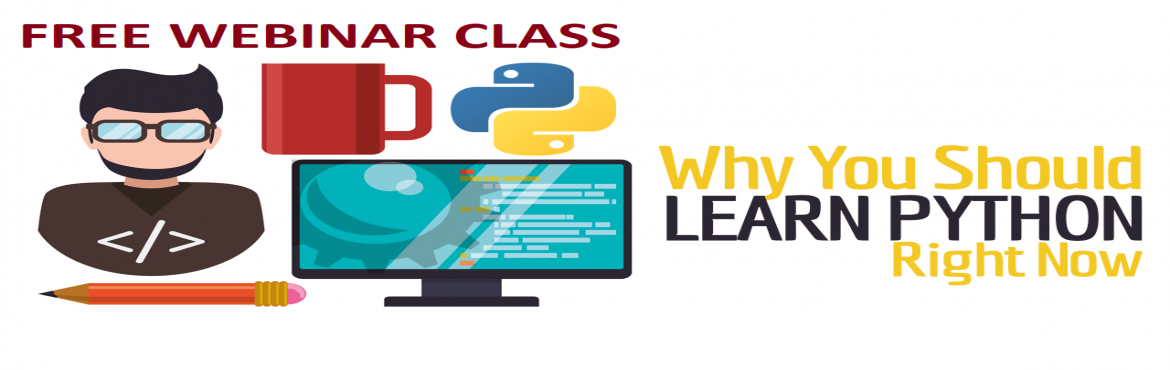 Book Online Tickets for Learn Python Programming - 1 Day Worksho, Hyderabad.  Learn Python Programming  Python is an extensive programming language that is majorly used for Rapid Application Development (RAD) and prototyping. It is one of the most simple and straightforward programming languages to learn with an eas