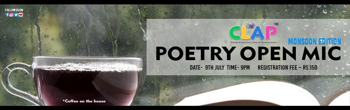 Book Online Tickets for Poetry Open Mic, Mumbai. Poetries speak your heart out, poetries understand you, poetries are empathetic, poetries are always breezy, poetries are confiding. This is what poetries are for us! if there is something which makes you feel loved or hated, it is a Poetry.To