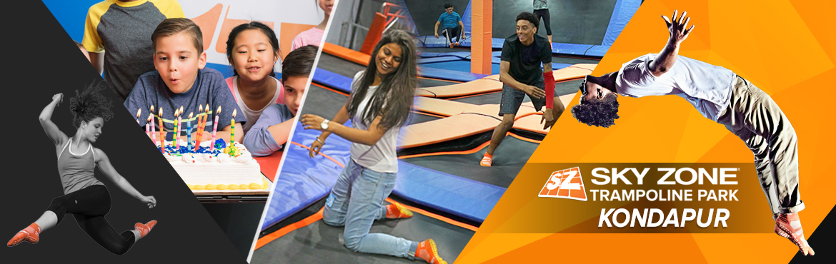 Book Online Tickets for EXPLORE @ SKY ZONE TRAMPOLINE, Hyderabad. Sky Zone Kondapur is part of world\'s original and premier indoor trampoline park franchise. Our attractions include trampoline dodgeball, trampoline basketball slam dunking, foam zone, warrior course, and more. This branch is India\'s 3rd location a