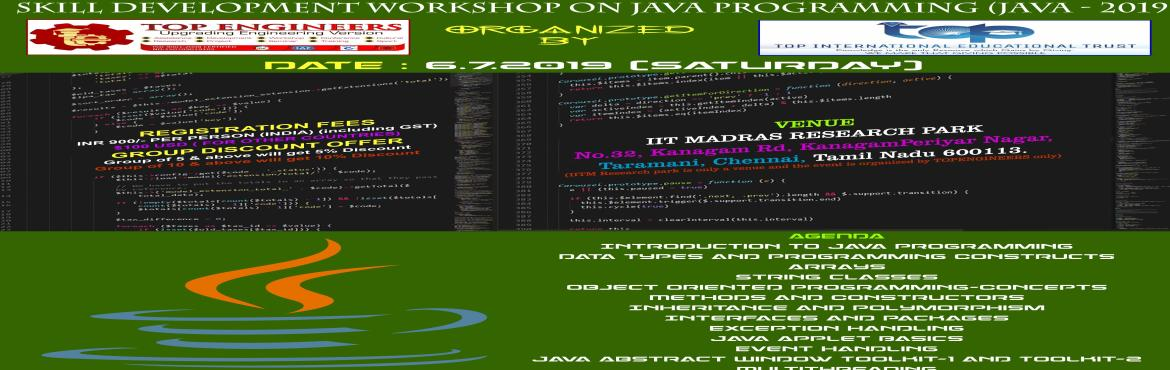 SKILL DEVELOPMENT WORKSHOP ON JAVA