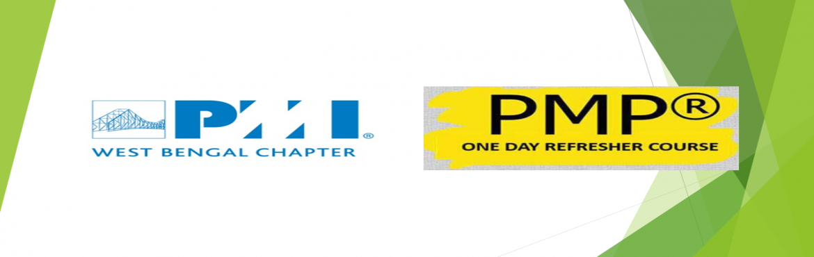 Book Online Tickets for 1 day PMP Refresher Course in Kolkata , Kolkata. PMI West Bengal Chapter is glad to announce 1 day PMP Refresher Course in Kolkata on [24th August , 2019]. This is a refresher course offering from PMI West Bengal Chapter in line with PMBOK 6th Edition. In this one day course, experts from PMI, WB C