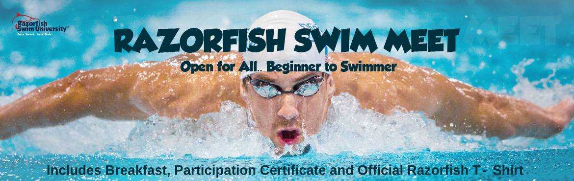 Book Online Tickets for Razorfish Swim Meet 2019, Hyderabad. Razorfish Swim University is the first swim school established in the Beautiful city of Hyderabad. We\'re back again this year bigger and better, organizing the third edition of Razorfish Swim Meet 2019  As a Fun Event, open for all – Beginners