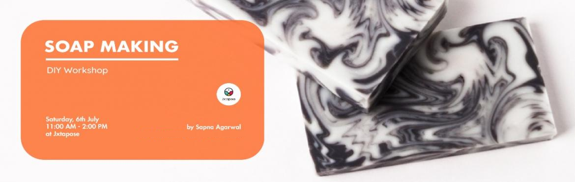 Book Online Tickets for SOAP MAKING WORKSHOP, Hyderabad. SOAP MAKINGBy Sapna Agarwal. This coming 6th of July Saturday, drop down at Jxtapose for a workshop that will teach you how to make soap! Using natural ingredients like goats milk and charcoal, get a detailed run down on 4 different varieties of soap