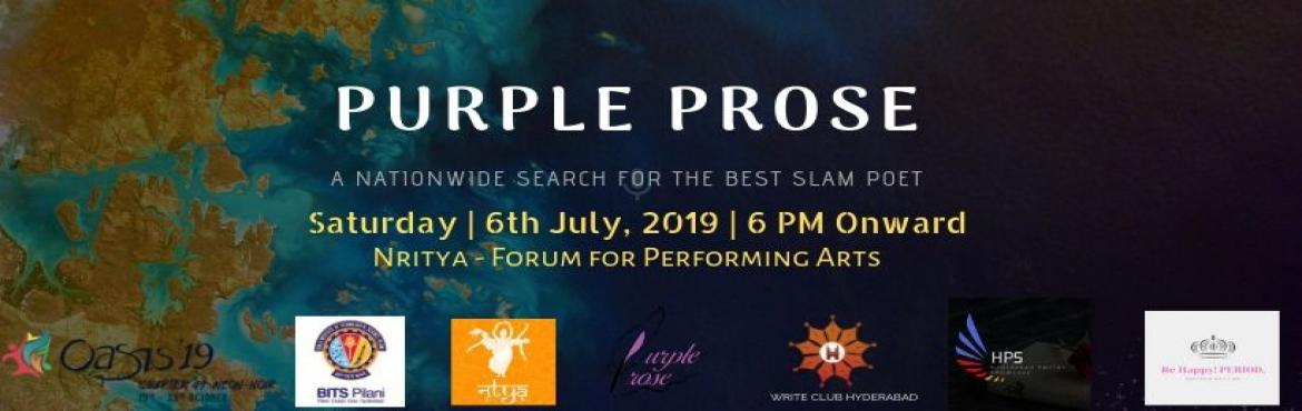 Book Online Tickets for Purple Prose by BITS Pilani:  Hyderabad , Hyderabad. The Hyderabad edition of Purple Prose is here, now and sure to rock! Let\'s cheer our people!We bring to you the best of Hyderabad, performance of poets who touch the heart of people. Pieces that influence the perception or enchant us with its vivid