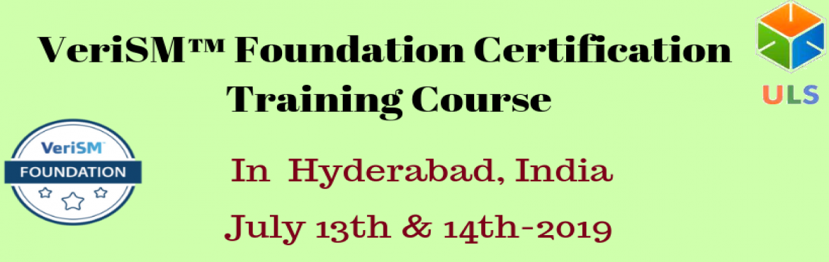 Book Online Tickets for VeriSM Foundation Certification Training, Hyderabad. Ulearn System\'s Offer VeriSM™ Foundation Certification Training Course Hyderabad, INDIA. VeriSM™ is a service management approach for the digital age. VeriSM™ offers organizations the opportunity to serve customers in lin