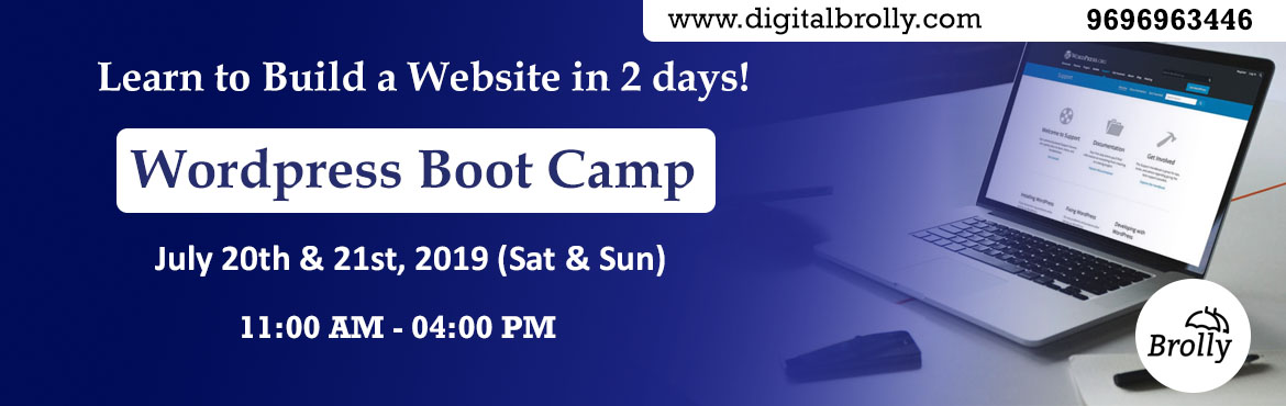 Book Online Tickets for Learn to Build a WordPress Website in 2 , Hyderabad. WordPress Website development Workshop is a two days workshop conducted by Digital Brolly (Madhapur Branch). Our Web Development Expert trainers, Madhan Mohan & Ravi Varma, will be taking the WordPress Website Development Workshop on 20