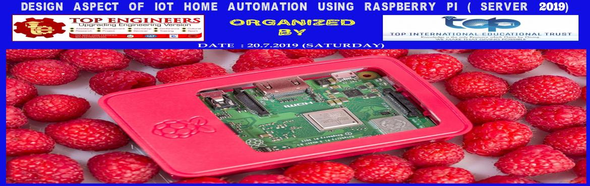 Book Online Tickets for DESIGN ASPECT OF IOT HOME AUTOMATION USI, Chennai.     AGENDA   Introduction to IOT Concepts Introduction to Raspberry PI Setting up Raspberry PI Operating System & building own server Installing MQTT Brokers and Clients Conceptualize home automation concept Using Raspberry Pi      Workshop