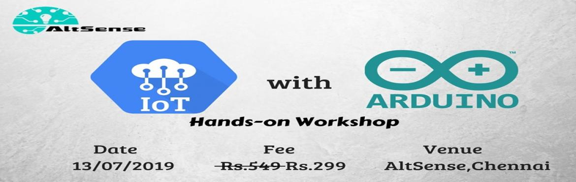 Book Online Tickets for Internet of Things with Arduino, Chennai.  Internet of Things with Arduino - Hands-on WorkshopAgenda :Introduction to Arduino and IOTArduino BasicsControlling LEDsSerial CommunicationSensor interfacingRelay - BasicsWifi Control of Home AppliancesNote: Certification will be providedBring