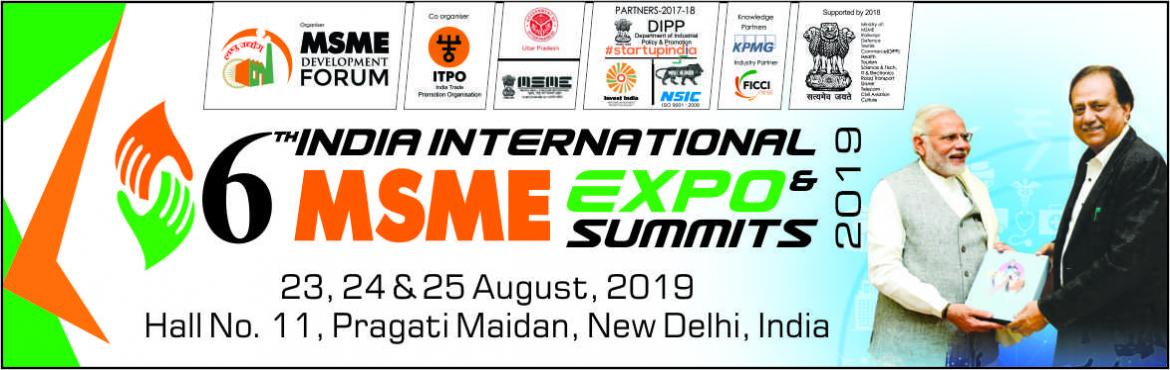Book Online Tickets for 6th INDIA INTERNATIONAL MSME EXPORT AND , New Delhi.                         Its India's only International expo/ trade fair at Pragati Maidan, New Delhi