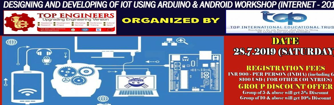 Book Online Tickets for DESIGNING AND DEVELOPING OF IOT USING AR, Chennai.     AGENDA   IoT Concepts & Definitions Understanding various protocols and Network types used in IoT Introduction to Embedded Development Boards – Arduino, NodeMCU-ESP8266 Hands-on programming with Arduino IDE Introduction and dealing with