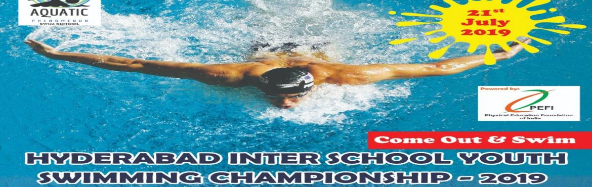 Book Online Tickets for HYDERABAD INTER SCHOOL YOUTH SWIMMING CH, Hyderabad. Aquatic Phenomenon is pleased to invite swimmers of your Club / School to participate in its Hyderabad youth swimming championship on 21st july, 2019 Dolphin swimming pool, No. 91, SVK, madhava reddy colony, adjacent centre for Good Governance, ORR e