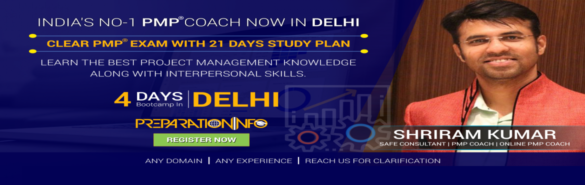 Book Online Tickets for PMP Classroom Training and Certification, New Delhi. If you are taking this 4 Days Weekday Classroom Training, you probably have some professional exposure to the duties of a project manager, or you may be considering embarking on a career in professional project management. Your ability as a pro