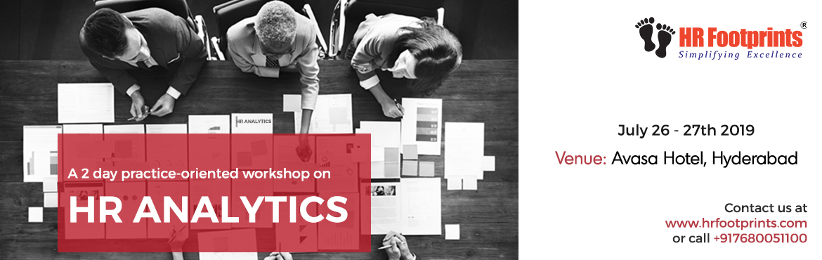 Book Online Tickets for A PRACTICE ORIENTED WORKSHOP ON HR ANALY, Hyderabad. Specially designed to facilitate immediate on-the-job application, this workshop will help you: ✅ Learn the fundamentals of HR Analytics: predictive & prescriptive ✅ Gain hands-on practice of essential statistical tools ✅ Draw data dr