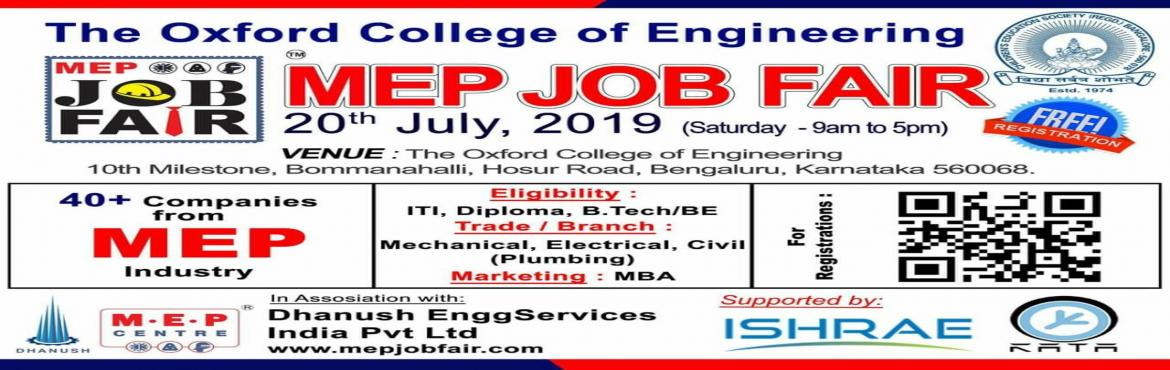 Book Online Tickets for MEP JOB Fair 2019 @ Bangalore, Bengaluru. Scan the QR Code and Register in MEPJOBFair 2019 @ Bangalore Location.  We look forward to see the Jobseekers and Employers together interacting and getting benefited. Share the invitation to those who would like to be at #Bangalore - MEPJOBFAI