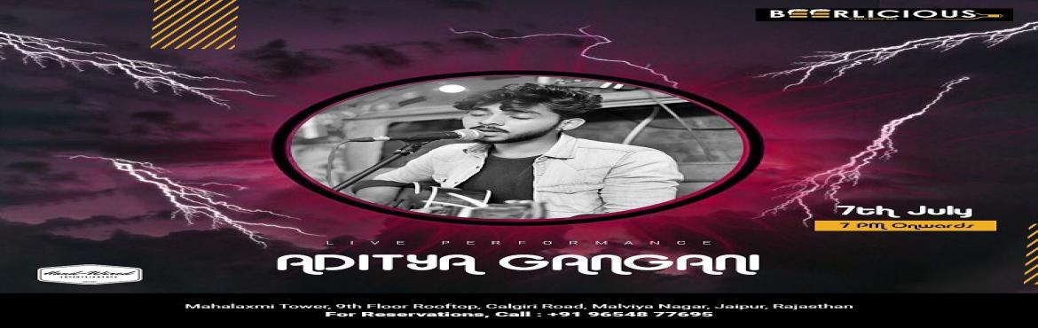 Book Online Tickets for LIVE MUSIC PERFORMANCE BY ADITYA GANGANI, Jaipur. This#Sundayjust got much more special for you and you beer loving friends! Come catch Aditya Gangani melt your heart with amazing live music @beerlicious1