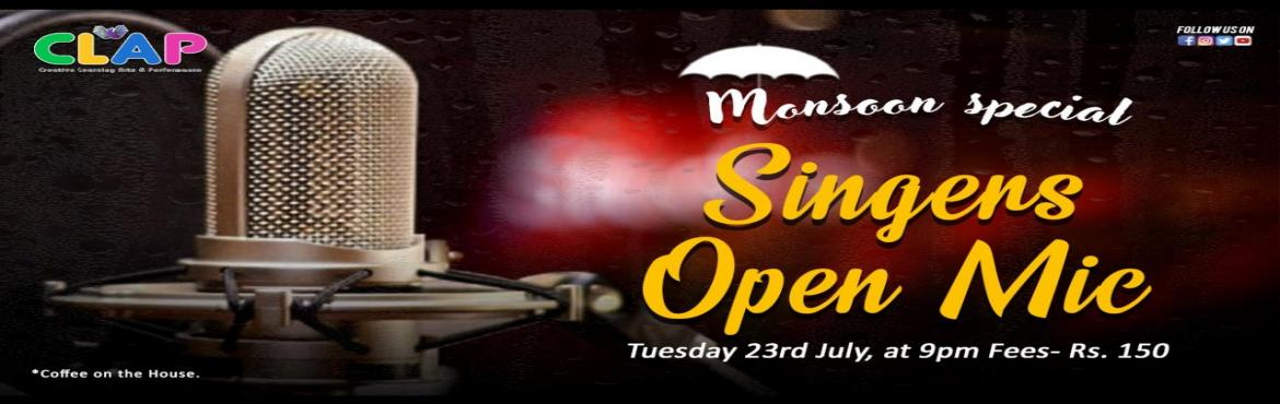 Book Online Tickets for Singers Open Mic, Mumbai.  Rains and music have an inseparable bond and to add up to this beauty we have coffee too.This monsoon we bring you Singers Open Mic- Monsoon special where you can share your original or cover songs. We dedicate this open mic to the monsoons. Lo