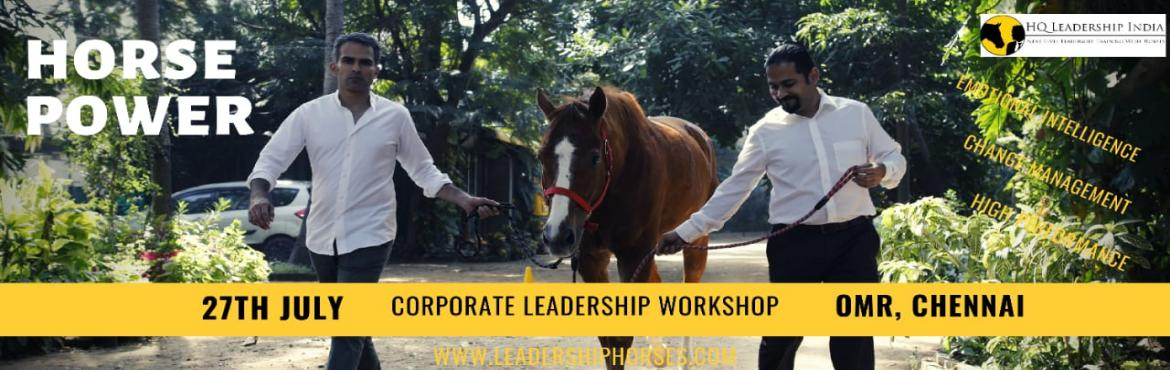 Book Online Tickets for International Leadership Training with H, Chennai. Join an international training workshop and get unique insights about leadership strategies, emotional intelligence and effective communication. You will be amazed how horses respond to your leadership skills - within a second! This unique trai