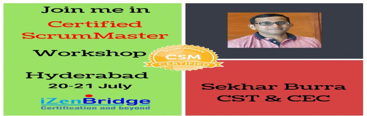 Book Online Tickets for Certified Scrum Master Training in Hyder, Hyderabad . Certified Scrum Mastersare the leaders within their team. You need to ensure that the team adheres to the scrum values and principles. You will collaborate with the customer, get their feedback and create incremental value. Scrum Masters are al
