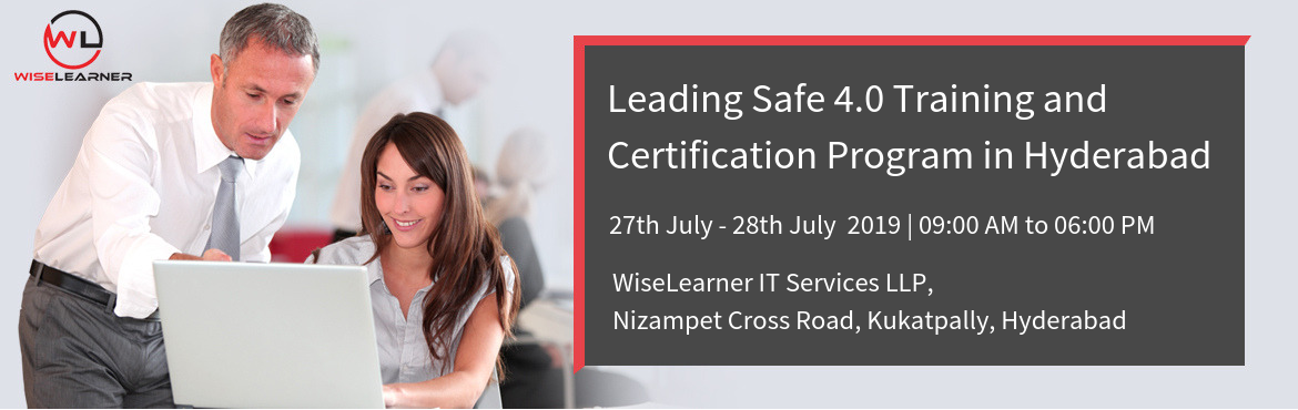 Book Online Tickets for Leading Safe 4.6 Training in Hyderabad w, Hyderabad.  OVERVIEW The Scaled Agile Framework (SAFe) is a complete methodology for large-scale, multi-team agile project teams to carry out this transformation seamlessly. Created by Dean Laffingwell, this framework effortlessly synchronizes the alignmen