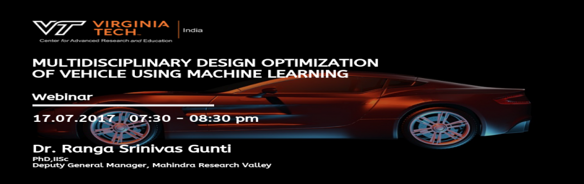 Book Online Tickets for Multidisciplinary Design Optimization of, Chennai. Data Science based Multidisciplinary Design Optimization (MDO) methods are disrupting the way the Computer Aided Engineering (CAE) analyses is performed. Traditional Response Surface based optimization methods fail to handle huge design variables and