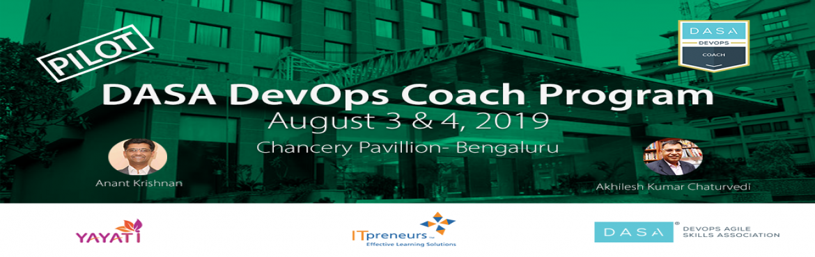 Book Online Tickets for DASA DevOps Coach Program, Bengaluru. Recent developments in IT methodologies have given rise to a spate of concepts, such as Agile, Scrum, DevOps, and Lean IT. These methodologies enable the realization of the customer value more rapidly than traditional methods. Like all other hyper-gr