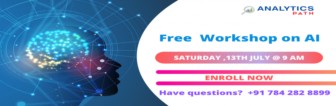 Book Online Tickets for Analytics Path Free Artificial Intellige, Hyderabad.       Attend Free Artificial Intelligence Workshop On Saturday, 13th July @ 10 AM at Analytics Path Scheduled By Experts Form Industry.       About this Event     Avail The Benefits Of The Revolutionary Career Profession Of Artificial Intel