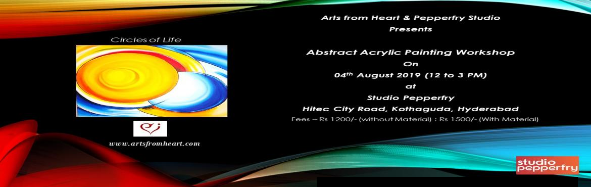 Book Online Tickets for Abstract Painting Party, Hyderabad. Hey there! Looking to do something super fun and new on weekends?  Here\'s the perfect chance to explore your creativity and get in touch with your inner artist. Ditch your phones and get your hands on colors and canvas. Come by and paint w