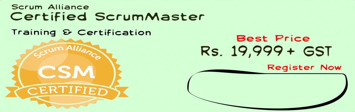 Book Online Tickets for Certified ScrumMaster Training - Certifi, Bengaluru. 12 Principles Consulting Change Agent's CSM Workshop If you are a person, who believes in challenging status quo, trust in continuousimprovement and you believe that youcan make the difference at the workplace as achange agent