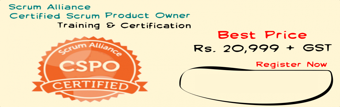 Book Online Tickets for Certified Scrum Product Owner Training -, Bengaluru. Product Owner is CEO of the product. ! are you ready to be one ? If so, then this training would be a great start for you. Product Management is a vast field, that has lots of tools and techniques to master over, while working with Scrum framew