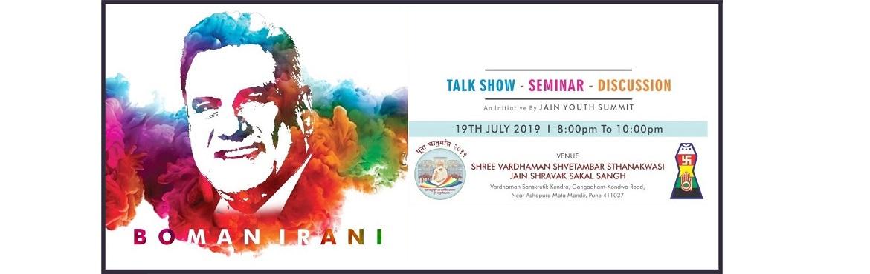 Book Online Tickets for Boman Irani - Life Inspiring Stories Fre, Pune. Date: 19 July\'19Time: 8pm - 10pmVenue: Shivacharya Samavsaran, Vardhaman Sanskrutik Kendra, Gangadham-Kondwa Road, Near Ashapuri Mata Mandir, Pune - 411037Location - https://goo.gl/maps/jx2FUUbsBjw9EiUV7