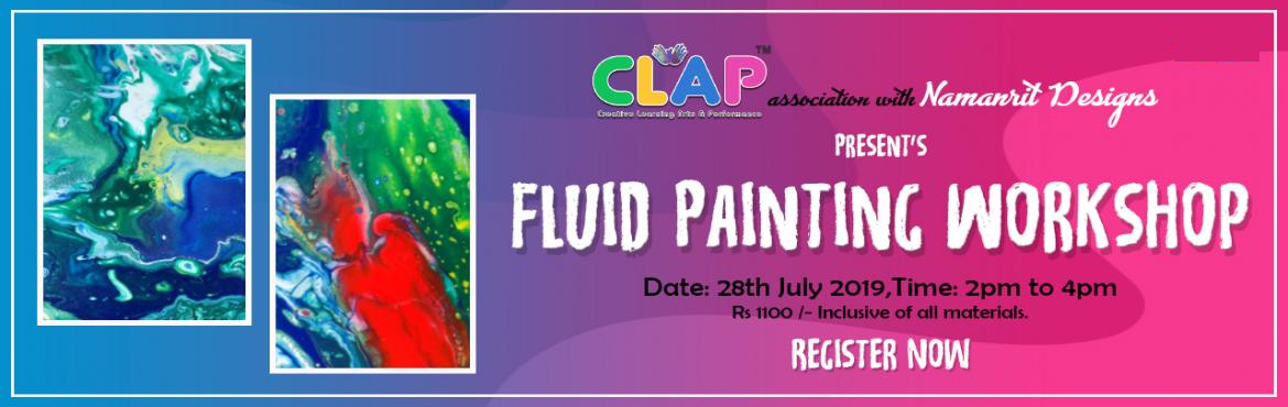 Book Online Tickets for Fluid Painting Workshop by Namanrit Desi, Mumbai. Let your creativity flow freely with the paint.Fluid Painting also is known as Pour painting is a fun art technique of creating abstract paintings by pouring, sprinkling acrylic colors on canvas using various methods. Learn various techniques a