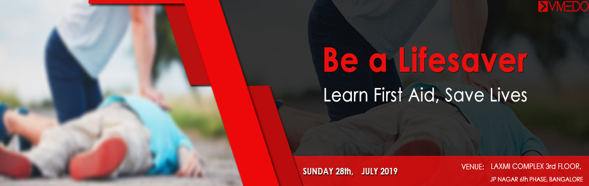 Book Online Tickets for First Aid Workshop @ Bangalore, Bengaluru. It\'s unbelievable how basic knowledge of first aid can save peoples lives. Learn First AId and Save Lives. Are you ready to save a life? If YES, Register here and learn first aid