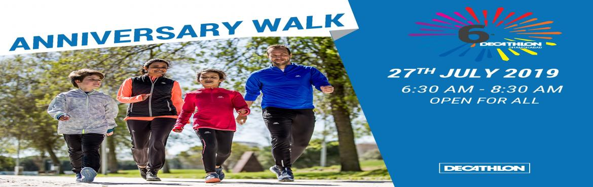 Book Online Tickets for DECATHLON SHAMSHABAD ANNIVERSARY WALK 5K, Hyderabad.  Join Us on Decathlon Shamshabad 6th Anniversary 5KM ECO WALK on 27th July 2019, We Invite you all who have passion and meeting new friends. We Will Be Providing One T-shirt and A Sport Drink at the venue Decathlon Shamshabad. Reporting Time 6a